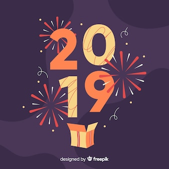 New year 2019 background