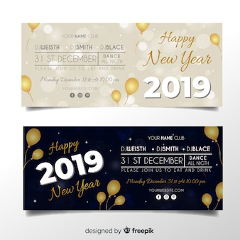 New year 2019 banner