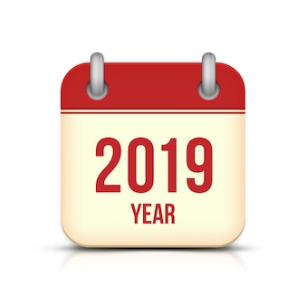 New year 2019 calendar vector icon