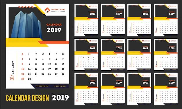 2019年新年、カレンダー