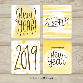 New year 2019 cards collection