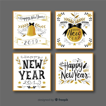 New year 2019 cards