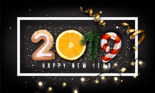 New year 2019 creative background