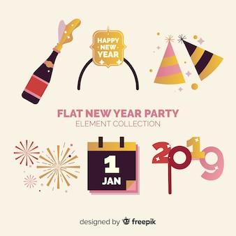 Set di decorazione del nuovo anno 2019
