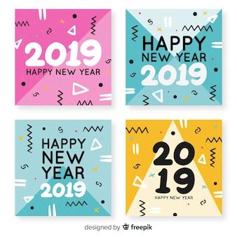 New year 2019 greeting card