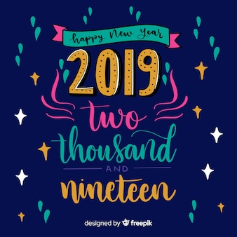 New year 2019 lettering