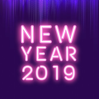 New year 2019 neon sign
