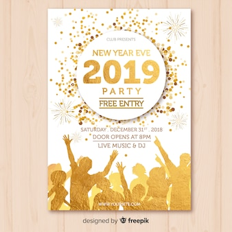 New year 2019 party banner