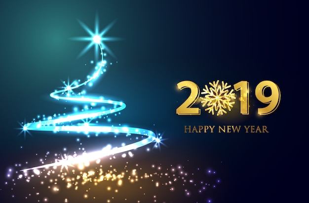 New year 2019  vector background