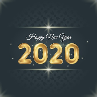 New year 2020 background template
