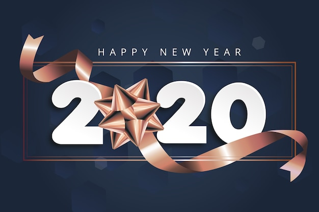 New year 2020 background with bow