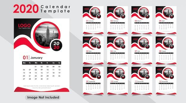 New year 2020 calendar