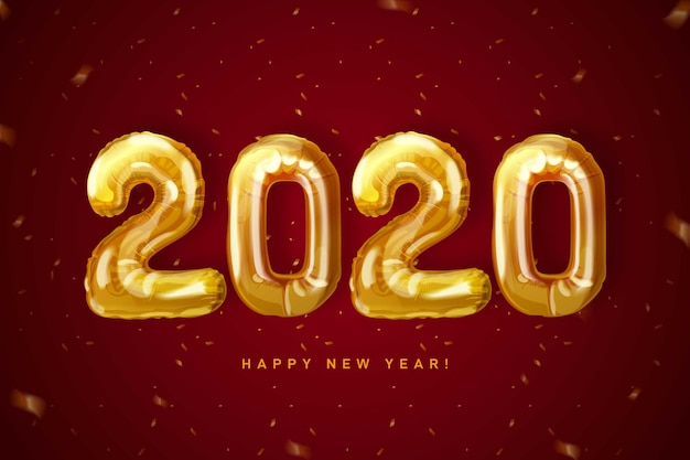 New year 2020 clock wallpaper
