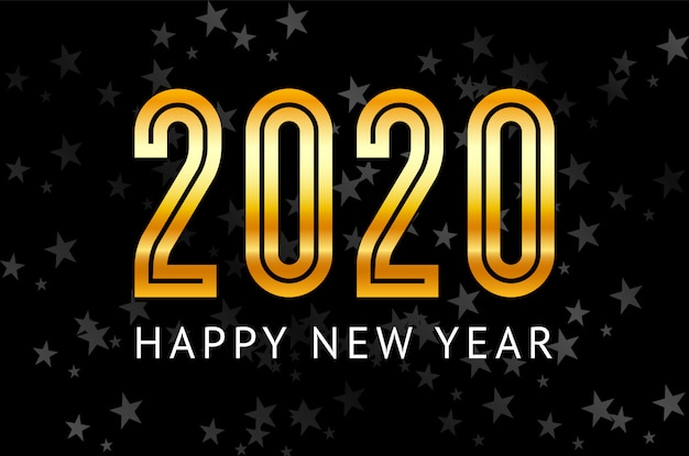 New year 2020 greeting card