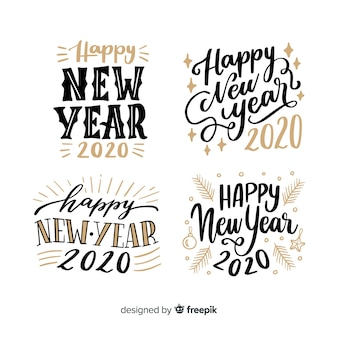New year 2020 lettering collection