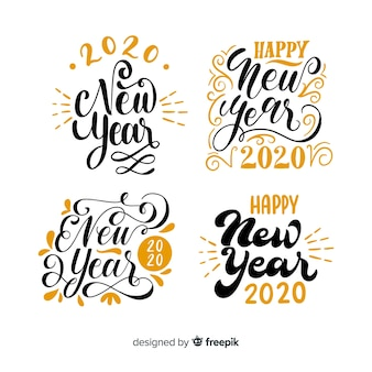 New year 2020 lettering pack
