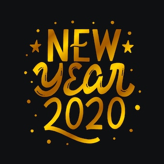 New year 2020 lettering
