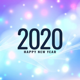 New year 2020 modern greeting