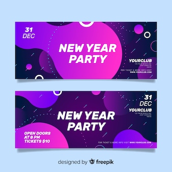 New year 2020 party banners