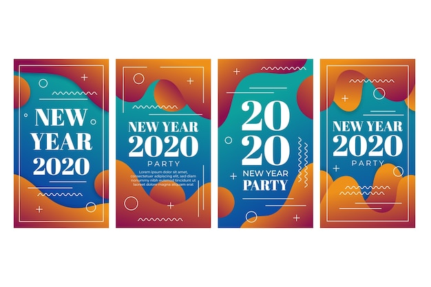 New year 2020 party instagram story collection