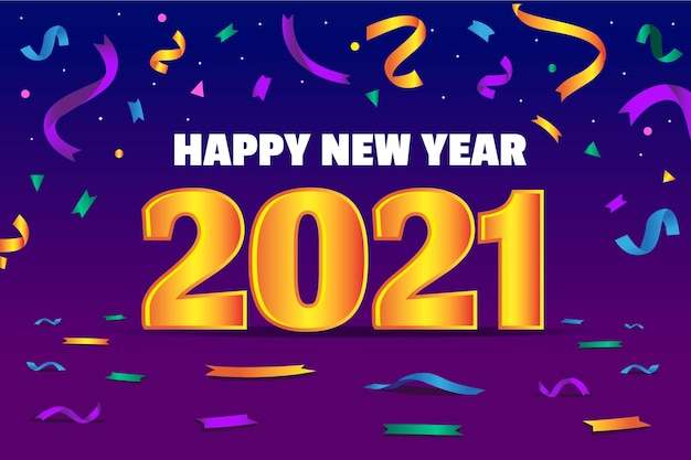 New year 2021 background