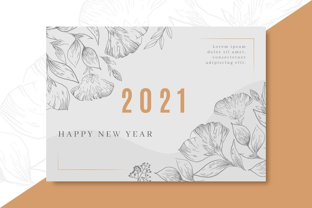New year 2021 card concept