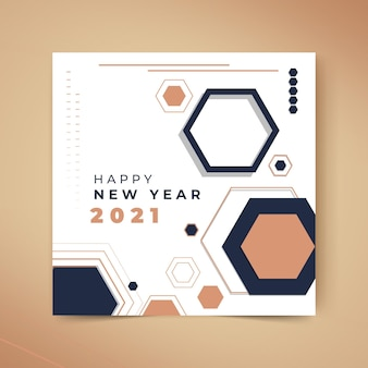 새해 2021 카드 개념