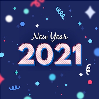 New year 2021 colorful confetti background