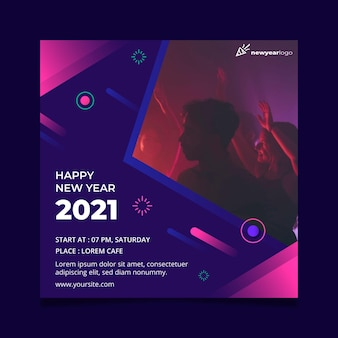 Modello di volantino del nuovo anno 2021