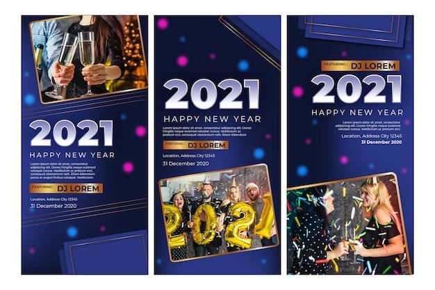 Collezione di storie ig del nuovo anno 2021