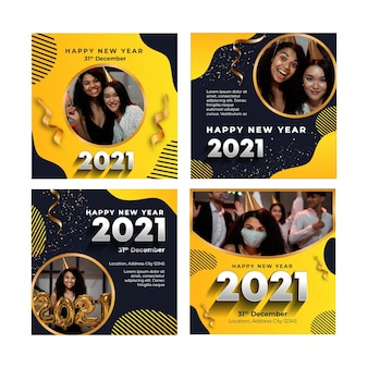 新年2021年のinstagramの投稿コレクション