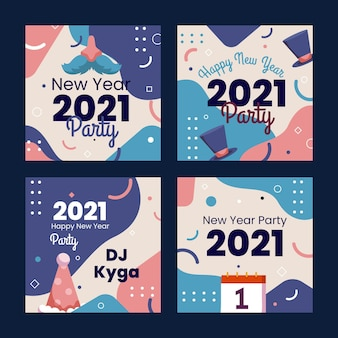 New year 2021 instagram post collection