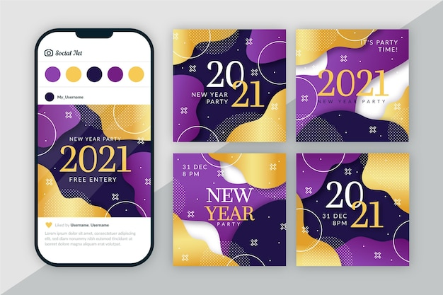 Post di instagram del nuovo anno 2021