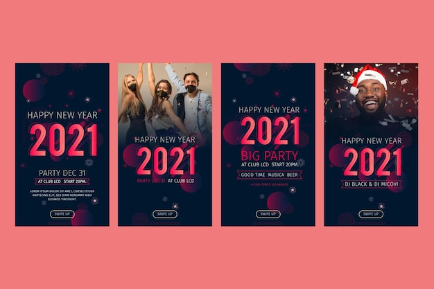 New year 2021 instagram stories collection