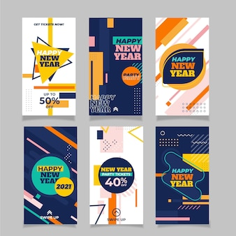 New year 2021 instagram story pack
