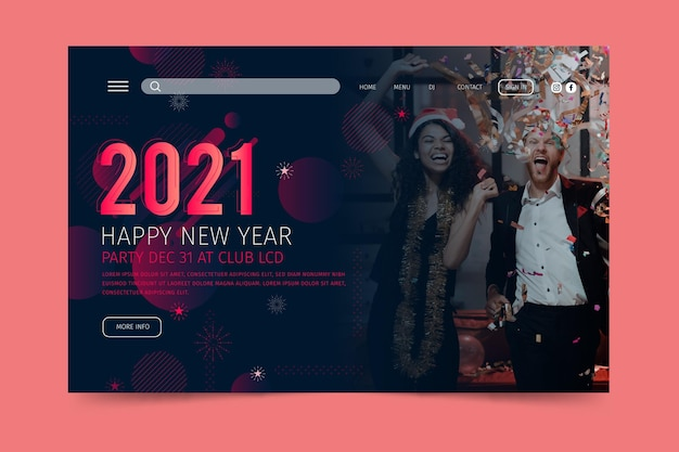 New year 2021 landing page