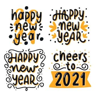 Collezione di lettere del nuovo anno 2021