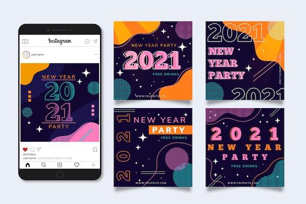 Post di instagram per feste di capodanno 2021
