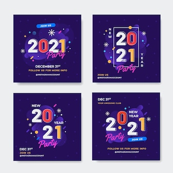 New year 2021 party instagram posts