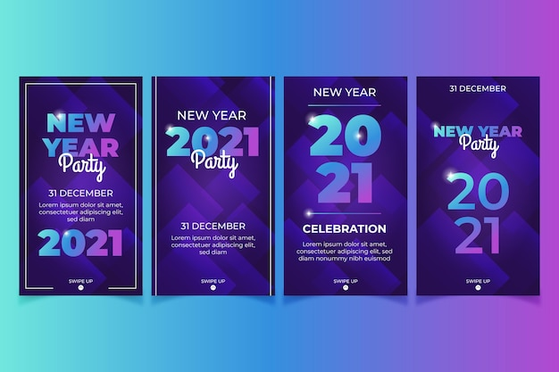 新年2021年パーティーinstagramストーリーコレクション