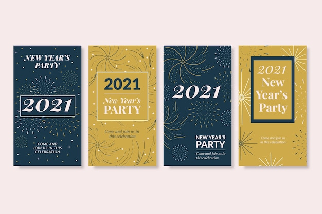 New year 2021 party instagram stories