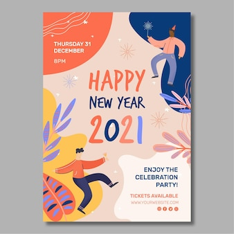New year 2021 poster a4