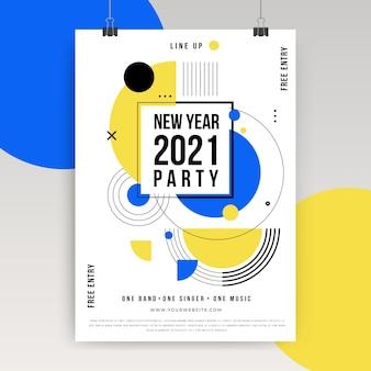 Concetto di poster di nuovo anno 2021