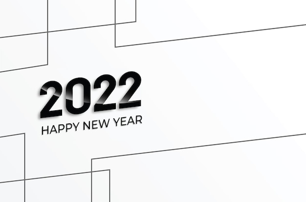 New year 2022 background vector