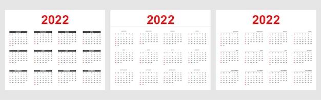 Новый год 2022 календарь в простом стиле