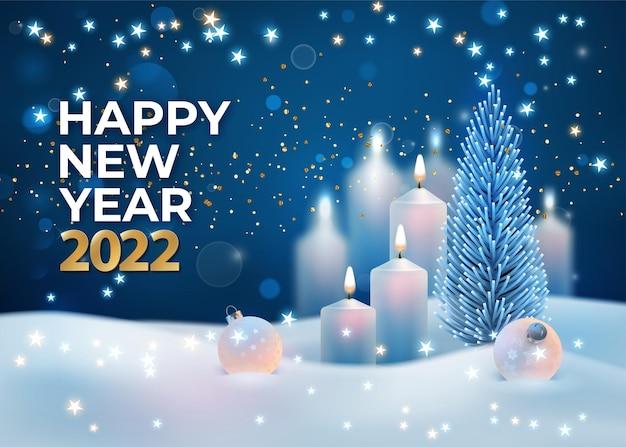 New year 2022 holiday card