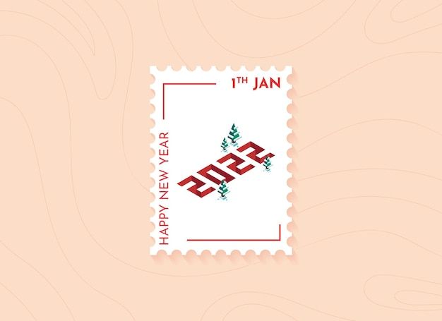 New year 2022 postage stamps