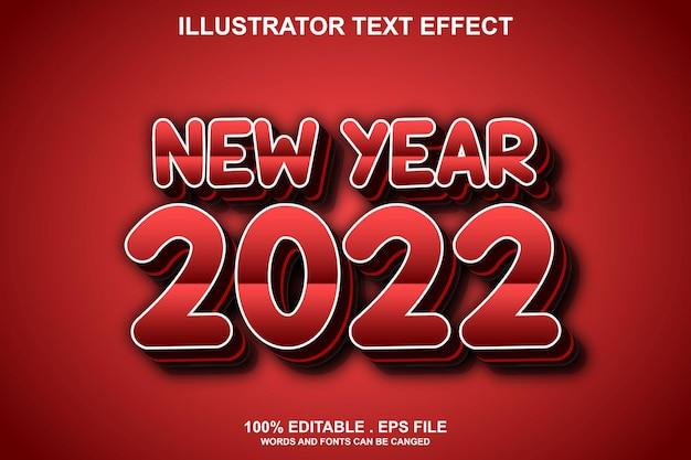 편집 가능한 새해 2022 텍스트 효과