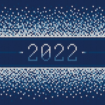 Новый год 2022 зимний праздник бесшовные вязаные модели