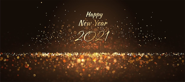 New year  abstract background with glitter lights and sparks